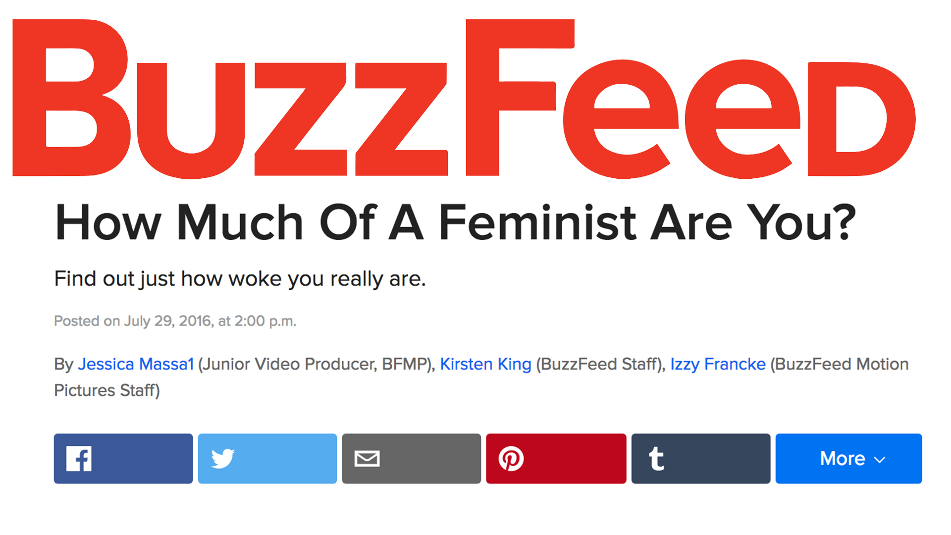Buzzfeed Knitting Quiz : How feminist are we sheologians