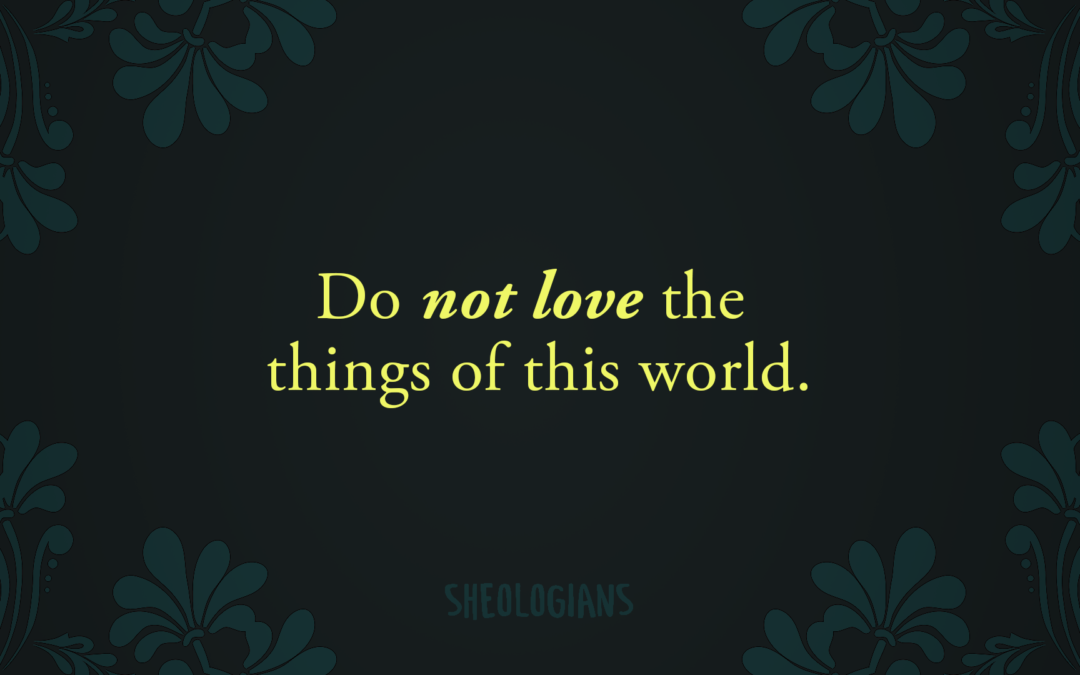 Do Not Love the Things of This World